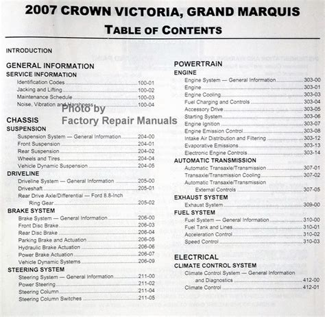 service manual 2005 ford crown victoria engine workshop manual ford workshop manuals gt 2007 ford crown victoria mercury grand marquis factory shop service manual factory repair