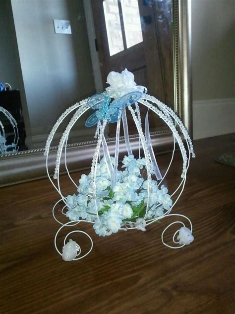 and carriage centerpieces cinderella s carriage for a birthday centerpiece crafts birthdays