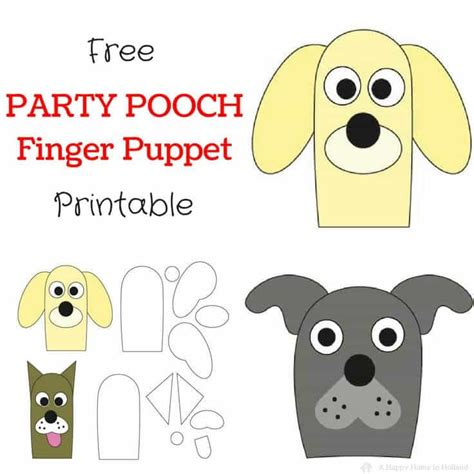 dog finger puppets easy party favor idea for birthdays