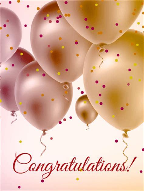 pearl color balloons congratulations card | birthday
