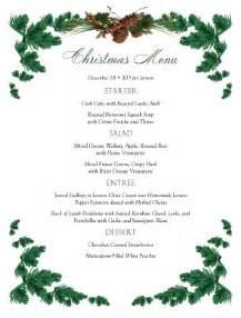 pine boughs christmas menu christmas menus
