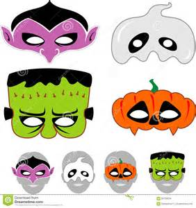 kids halloween masks set stock vector image 56756634