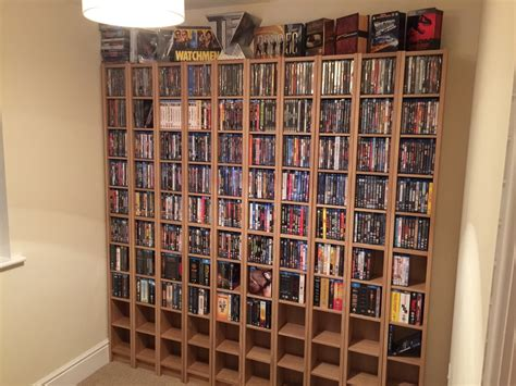 hack storage movie using ikea gnedby shelf units there s no place like home