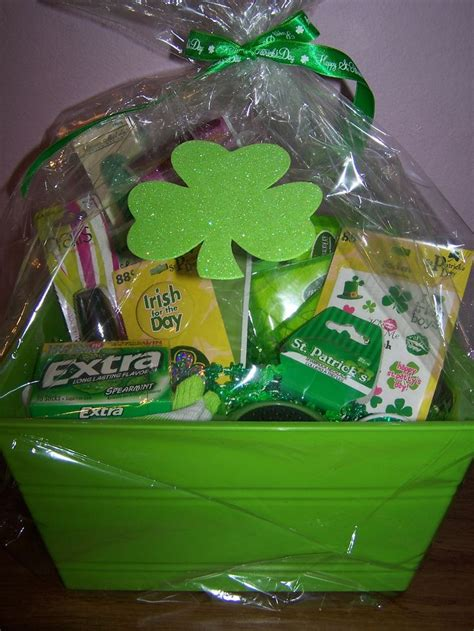 s day secret pal gifts all things green gift basket for my secret pal at church