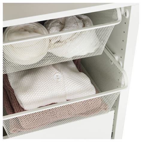 ikea mesh drawers komplement mesh basket with pull out rail white 50x58 cm