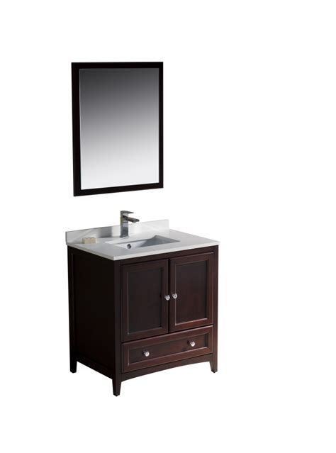 30 Inch Vanity 30 Inch Single Sink Bathroom Vanity In Mahogany Uvfvn2030mh30