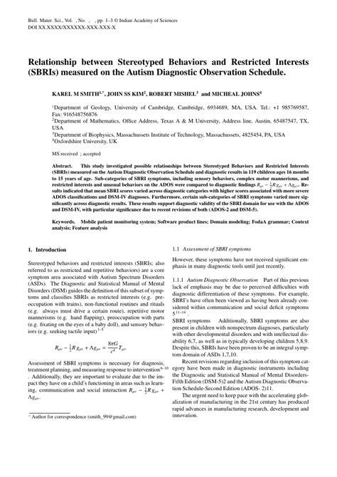 Springer Bulletin Of Materials Science Template Springer Template