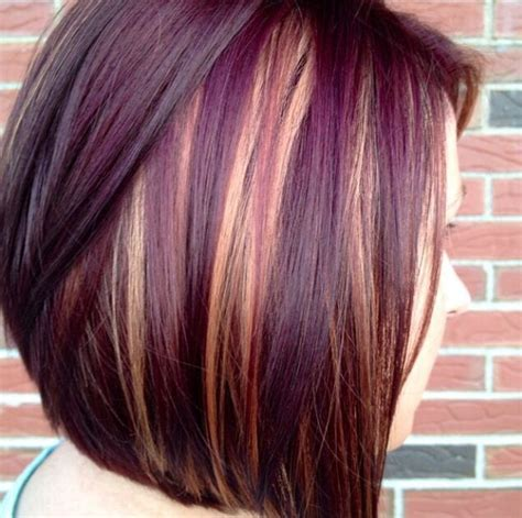puple with blonde highlights dark purple with blonde highlights beauty hair nails