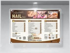 nail salon price list template product 5100 4 seasons nail salon price list yentac nail