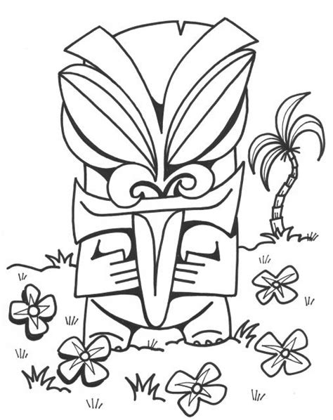 Tiki Face Coloring Page Www Imgkid Com The Image Kid Tiki Coloring Pages