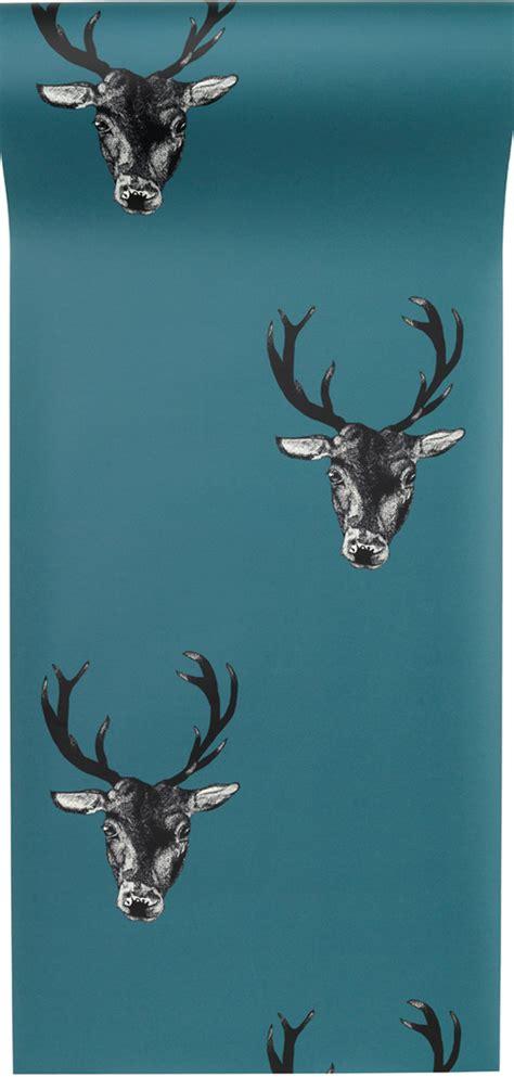 stag wallpaper grey stag repeat designer wallpaper monument interiors