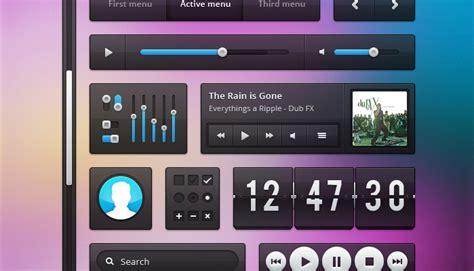 filename pattern ui fashion music interface ui kit free psd vector icons