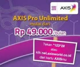 Modem Axis Unlimited harga kartu perdana axis pro unlimited