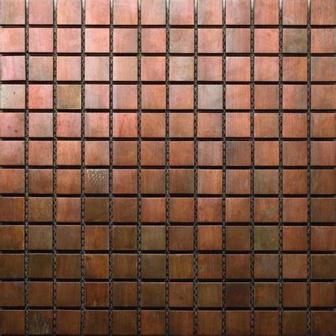 Colored Subway Tile Backsplash antique bronze color copper metal mosaic for interior and