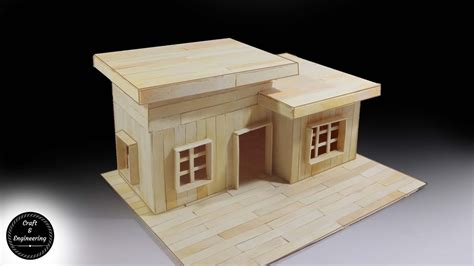 how to make a home how to make modern house with popsicle sticks youtube