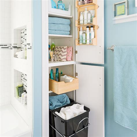 bathroom closet design and easy storage ideas