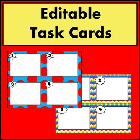 task card template editable windupteacher s shop teaching resources tes