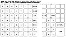 register keyboard template sam4s er 925 help