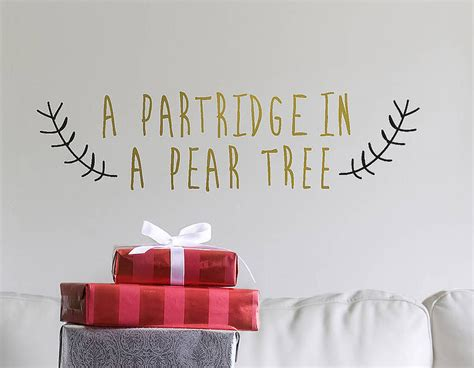 gold wall stickers gold partridge in a pear tree wall sticker contemporary wall stickers