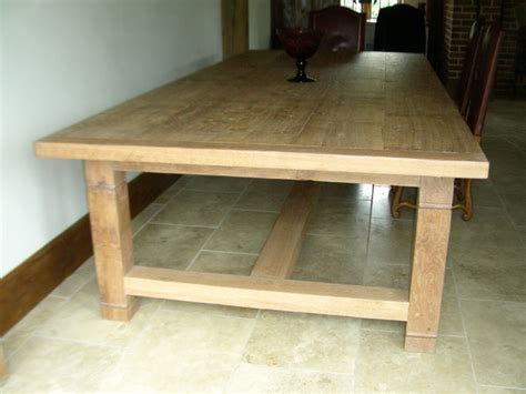 Handmade Oak Tables - white oak 16 seater handmade refectory kitchen table
