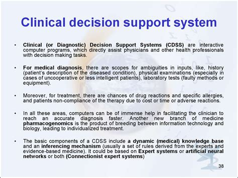 clinical decision support clinical decision support introduction in medical