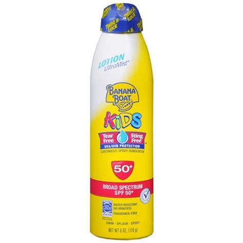 banana boat mineral sunscreen banana boat kids continuous spray sunscreen spf 50 6 oz