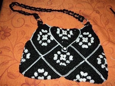 bolsas tejidas con fichas parte 2 de 3 bolsa con pastillas cuadros a ganchillo