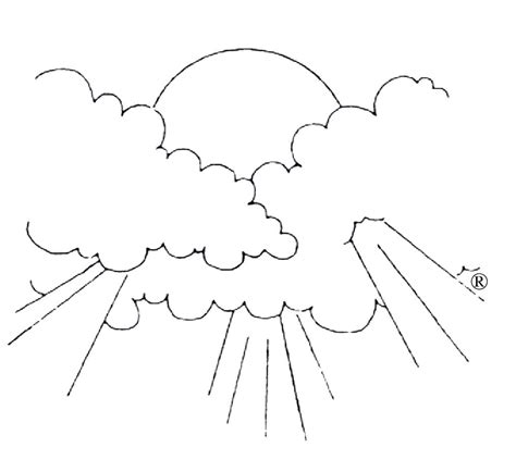 free coloring pages of sky clouds coloring page rainbow