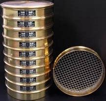 sieve analysis, particle sizing, sieve mesh, aashto soil
