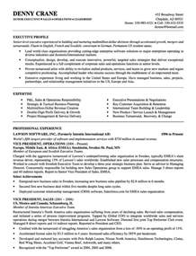 Executive Level Resume Template by Executive Level Resume Sles Sle Feel Free