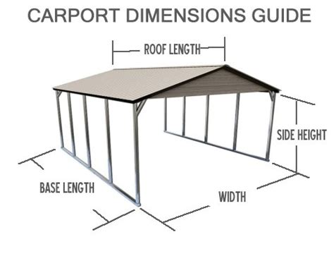 Carport Dimensions by Carport Buying Guide