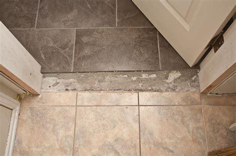 carpet ceramic tile transition vinyl to tile transition tile design ideas