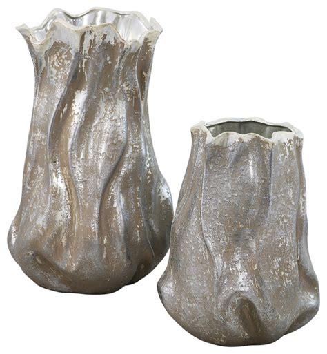 Ceramic Vase Sets by 2 Juno Ceramic Vase Set Vases By Elandecor