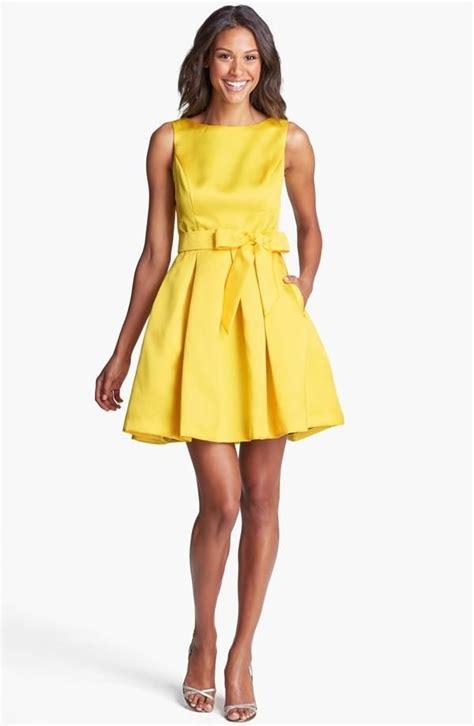 Yelloni Dress nordstrom yellow dress white sandals