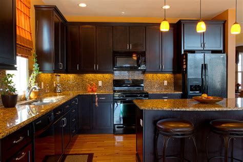 Modern Kitchen With Black Appliances Kitchen Modern Kitchen New York By Rikki Snyder