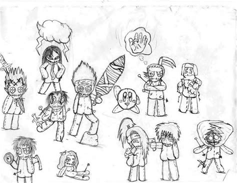 cute voodoo doll drawings cute voodoo dolls drawings