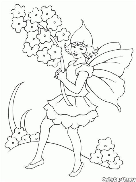 mazzo di fiori da colorare disegni da colorare ragazza elfo con un mazzo di fiori