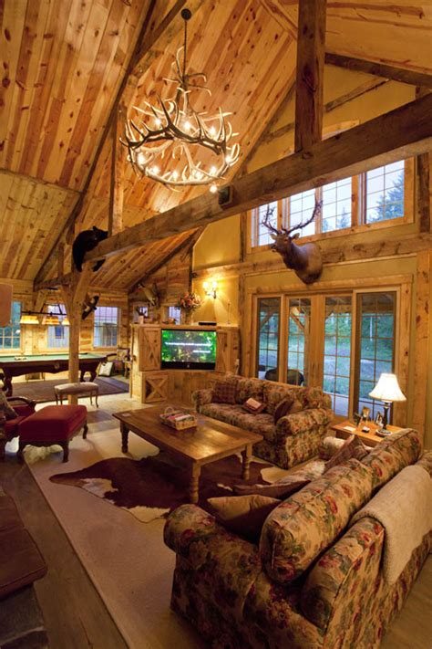 Interior Log Home Pictures Reside In A Beautiful Barn Home 9