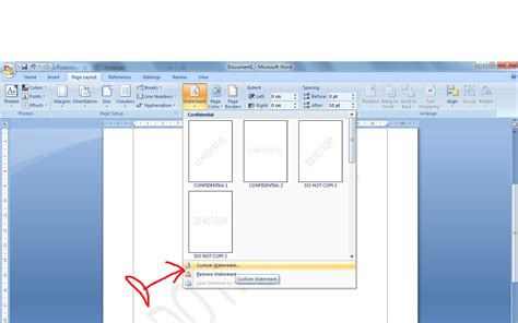 membuat watermark di word 2010 cara membuat watermark di microsoft word 2010 panduan
