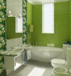 Bathroom Tile Colour Ideas Green Flower Pattern Bathroom Tile Ideas Home Interiors