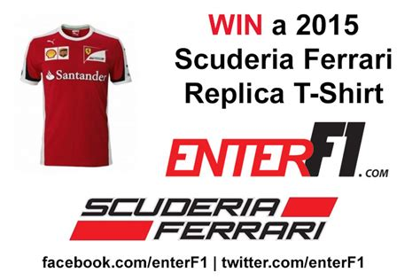 Ferrari T Shirt 2015 by Win A 2015 Scuderia Ferrari T Shirt Enterf1