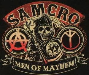 Television sons of anarchy sons of anarchy mayhem symbols t shirt