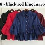 Bordery Tops Atasan Polos Bordir baju remaja coat maxi model gamis modern terbaru