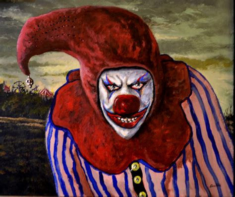 clown paint scary clown painting just one of 19 by glenshaw artist