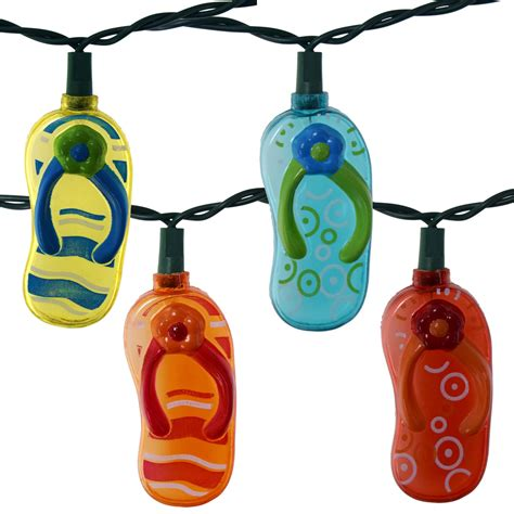 10 string lights flip flops string lights 10 lights