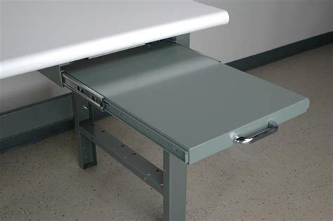 desk with pull out writing surface stackbin workbenches pull out writing surface