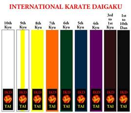 belt colors in karate maritime international karate daigaku amherst shotokan