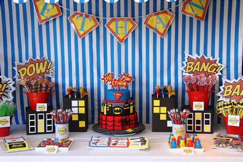 themed decorations home superman themed birthday decorations home ideas