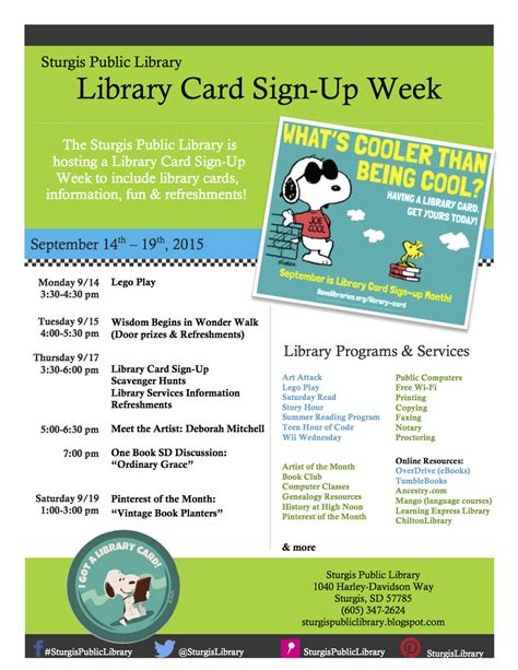 Template I Got My Library Card Today by Sturgis Library At The Sturgis Library Today