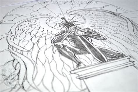kneeling angel tattoo kneeling drawing www pixshark images